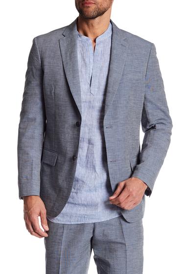 Imbracaminte Barbati Perry Ellis Notch Collar Slim Fit Blazer 981 BIJOU BLUE
