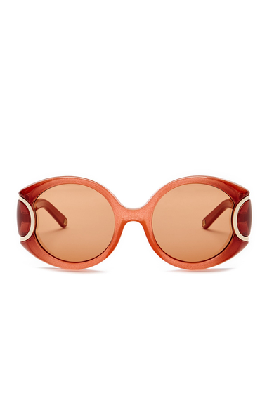 Ochelari Femei Salvatore Ferragamo Womens Oversized Round Plastic Frame Sunglasses ORANGE GRADIENT