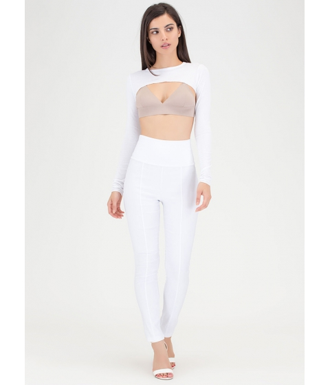 Imbracaminte Femei CheapChic Count Us In Tapered Skinny Pants White