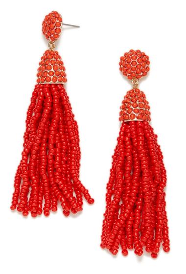 Bijuterii Femei BAUBLEBAR Pinata Tassel Earrings CORAL