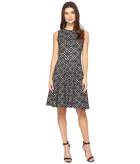Imbracaminte Femei Calvin Klein Laser Cut Flare Dress Black