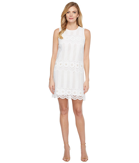 Imbracaminte Femei Laundry by Shelli Segal Venise Dress w Metal Eyelet Details White