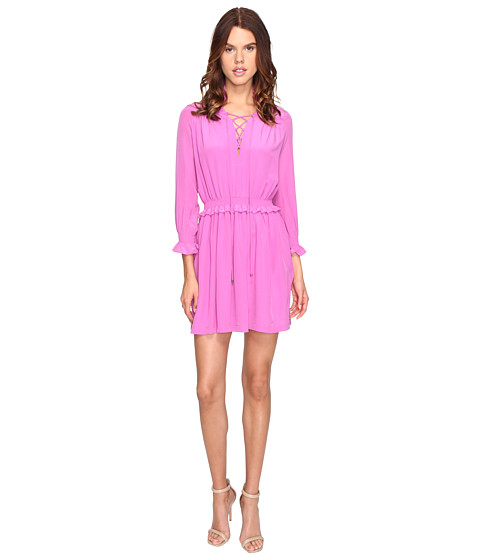 Imbracaminte Femei Just Cavalli Long Sleeve Tie Neck Dress Pink