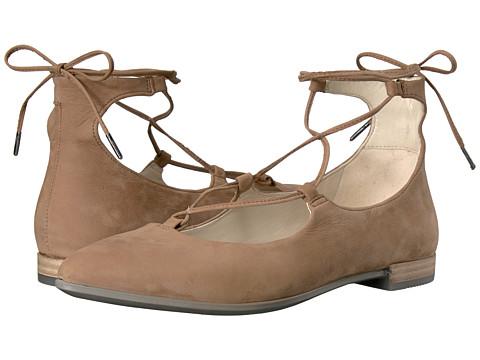 Incaltaminte Femei ECCO Shape Tie Up Ballerina Camel Calf Nubuck
