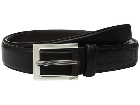 Accesorii Barbati John Varvatos Leather Dress Belt with Rectangular Buckle Chocolate