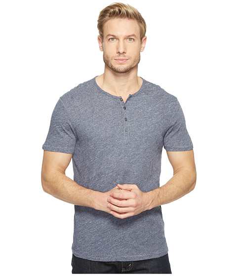 Imbracaminte Barbati Timberland Short Sleeve Knit Henley with Vertical Pickstitch Details K2943T1B Indigo