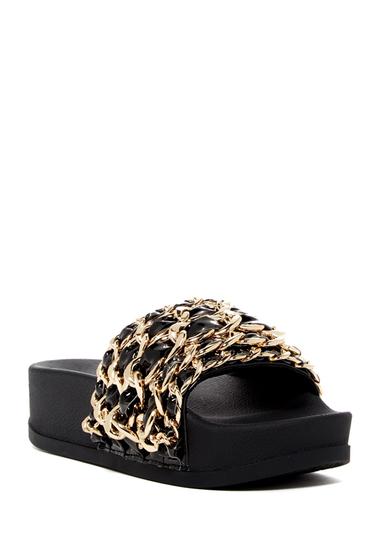 Incaltaminte Femei Jeffrey Campbell Edie Platform Slide Sandal BLACK GOLD