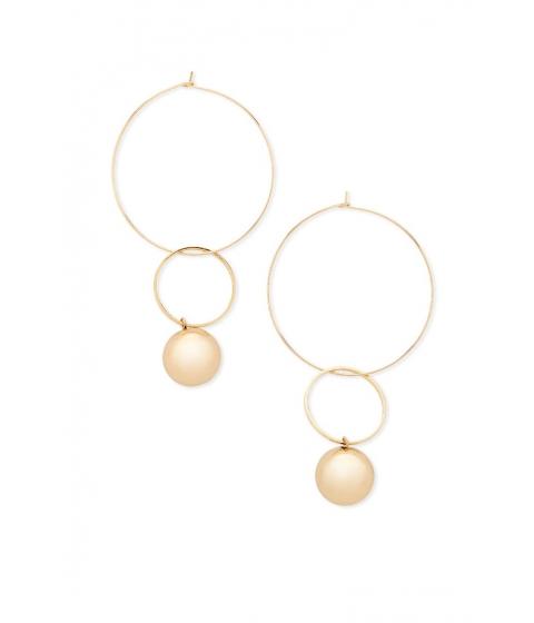 Bijuterii Femei Forever21 Wire Hoop Bauble Earrings Gold