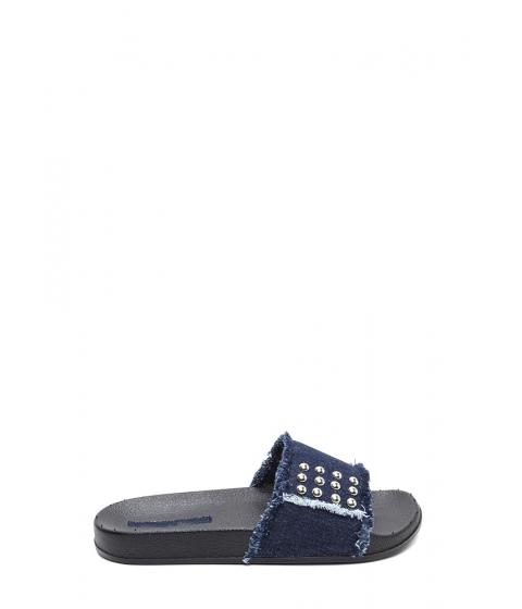 Incaltaminte Femei CheapChic Fray It Forward Studded Denim Sandals Blue