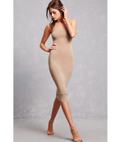 Imbracaminte Femei Forever21 Strapless Bodycon Dress Nude