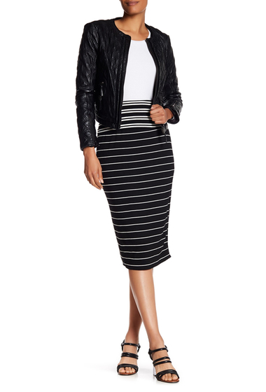 Imbracaminte Femei Max Studio Striped Midi Pencil Skirt BKIVRIBS