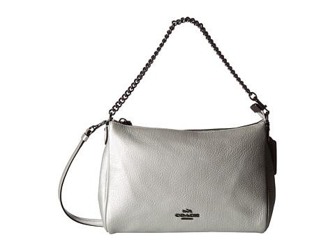 Genti Femei COACH Leather Carrie Crossbody Silver