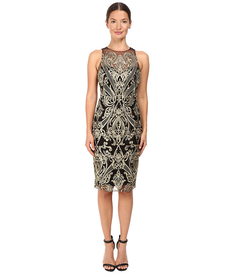 Imbracaminte Femei Marchesa Embroidered Sheath Black
