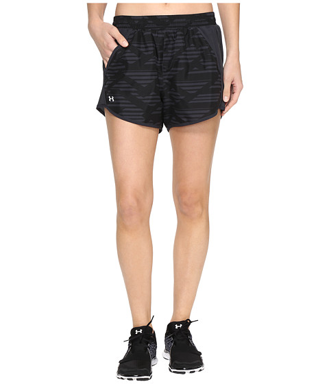 Imbracaminte Femei Under Armour Fly By Printed Shorts BlackAnthracite