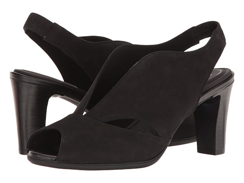 Incaltaminte Femei Rockport Total Motion 75mm V-Sling Black Nubuck