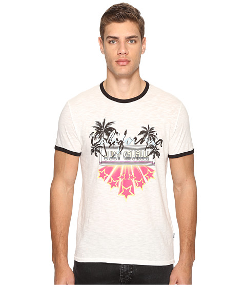 Imbracaminte Barbati Just Cavalli Ringer T-Shirt White Milk