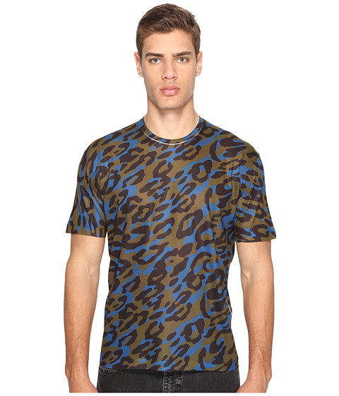 Imbracaminte Barbati DSQUARED2 Cheetah Print T-Shirt GreenBlackBlue