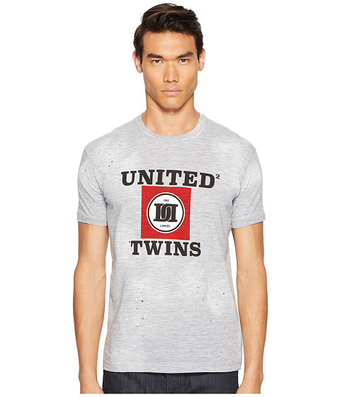 Imbracaminte Barbati DSQUARED2 Street Ska United Twins T-Shirt Grey Melange