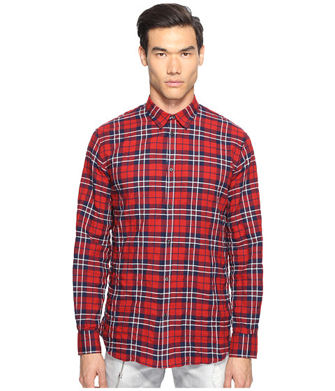 Imbracaminte Barbati Timberland Check Cotton Relaxed Dan Button Up RedBlue