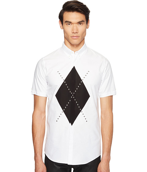 Imbracaminte Barbati DSQUARED2 Mod Evening Argyle Shirt White
