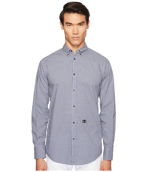 Imbracaminte Barbati DSQUARED2 Street Ska Micro Check Shirt BlackBlueWhite