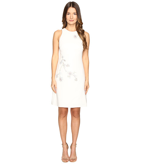 Imbracaminte Femei Marchesa A-Line Crepe Floral Embroidery Shift Dress Ivory