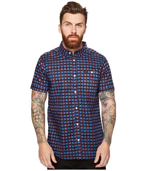 Imbracaminte Barbati RVCA Shaded Short Sleeve Woven Dark Blue