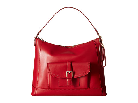 Genti Femei COACH Charlie Leather Hobo Classic Red