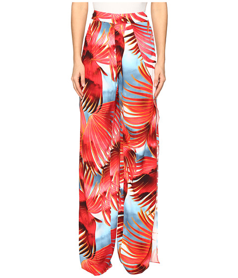 Imbracaminte Femei Just Cavalli Palm Print Pants Fire Variant
