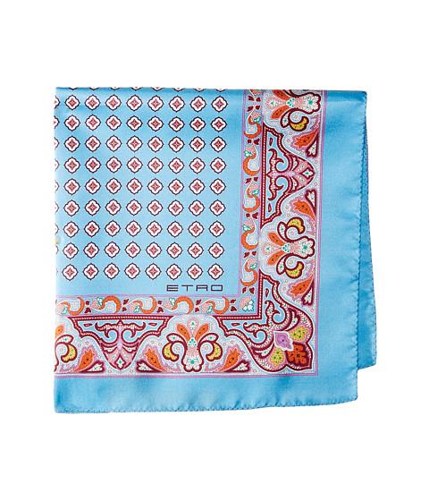 Accesorii Barbati Etro Geometric and Paisley Print Pocket Square Blue