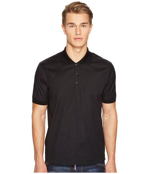 Imbracaminte Barbati DSQUARED2 Street Ska Poplin Polo Shirt Black