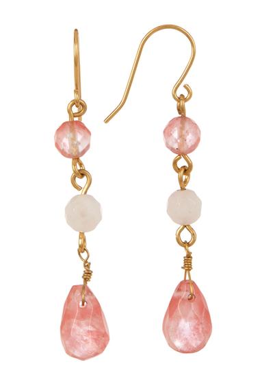 Bijuterii Femei Carolee Triple Bead Drop Earrings GLDPINK