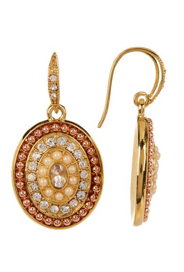 Accesorii Femei Carolee Pave Oval Drop Earrings GOLDMLTI