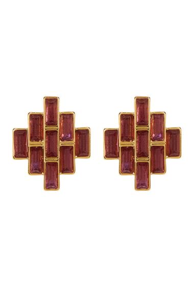 Accesorii Femei Carolee Baguette Stud Earrings GLDPNKMLTI