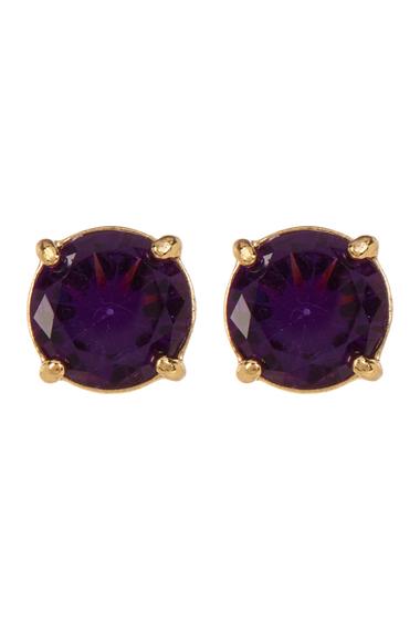 Accesorii Femei Carolee Round Stud Earrings GOLD PL- DK PURPLE