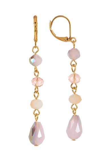 Accesorii Femei Carolee Beaded Linear Earrings GOLDMULTI