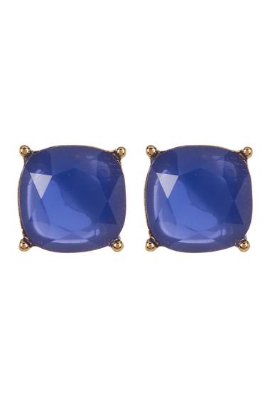 Accesorii Femei Carolee 12K Gold Square Stud Earrings GOLD PL- DK BLUE