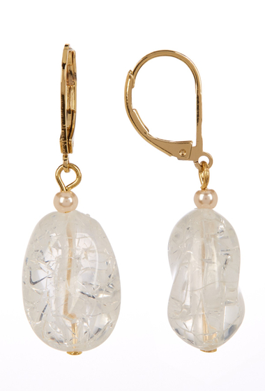 Accesorii Femei Carolee Nugget Drop Earrings GOLD PL- DK WHITE