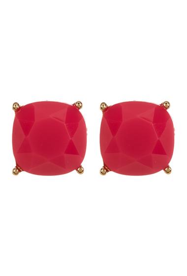 Accesorii Femei Carolee 12K Gold Square Stud Earrings GOLD PL- MD PINK
