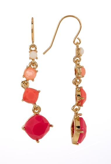 Accesorii Femei Carolee 12K Gold Linear Graduated Stone Earrings GOLD PL- LT MULTI