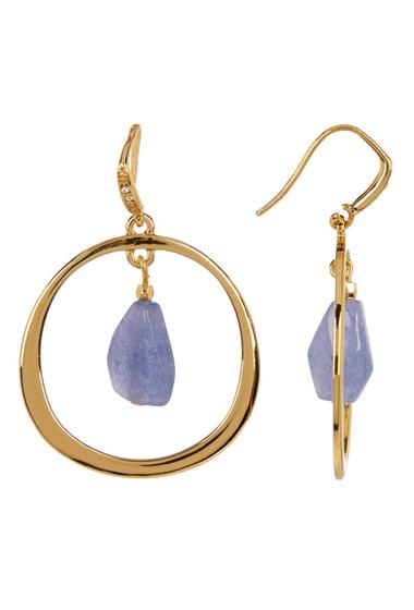 Accesorii Femei Carolee 12K Gold Gypsy Hoop Earrings GOLD PL- LT BLUE