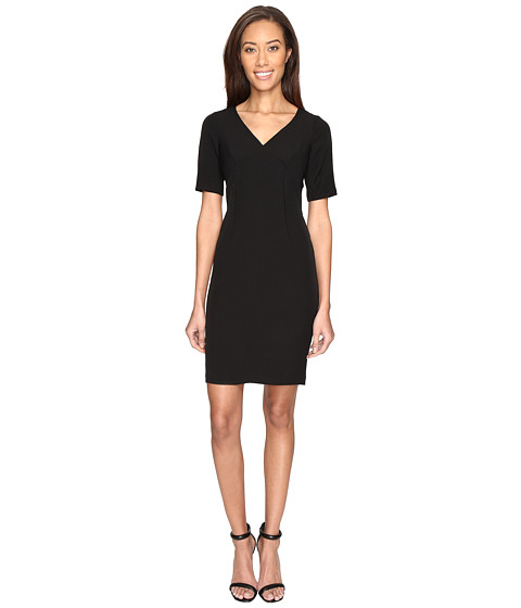Imbracaminte Femei Adrianna Papell Exposed Dart Stretch Crepe Dress Black