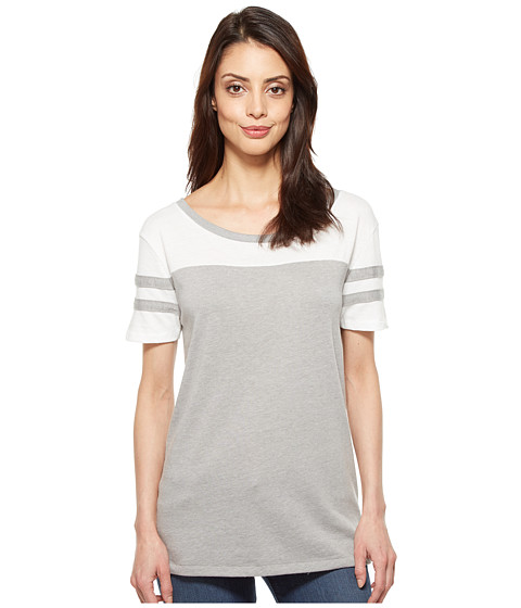 Imbracaminte Femei Alternative Apparel Stadium Vintage Jersey T-Shirt SmokeWhite