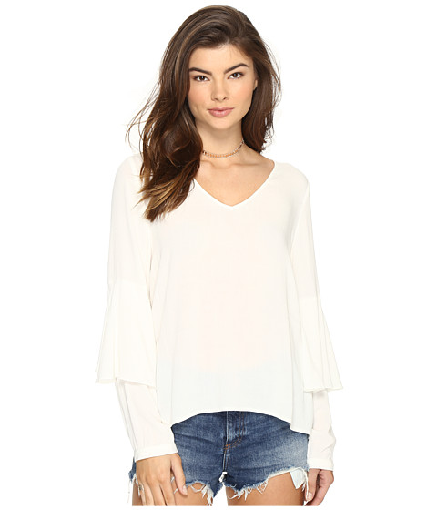 Imbracaminte Femei kensie Soft Crepe Long Sleeve Top KS2K4253 French Vanilla