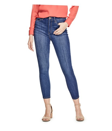 Imbracaminte Femei GUESS Simmone Super High-Waist Skinny Jeans medium wash