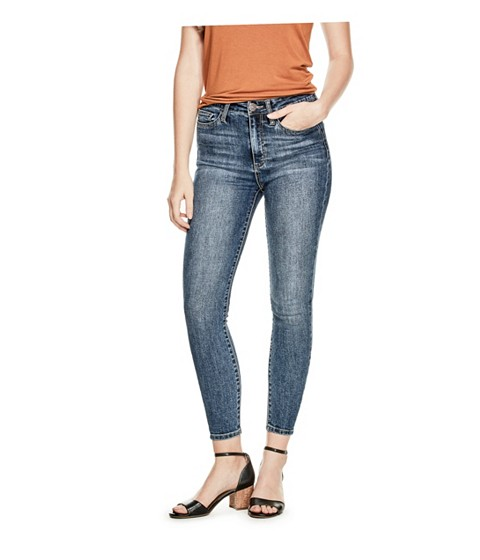 Imbracaminte Femei GUESS Simmone Super High-Rise Skinny Jeans dark wash