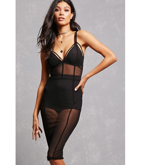 Imbracaminte Femei Forever21 Caged Mesh Cami Dress Black