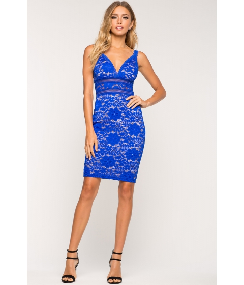 Imbracaminte Femei CheapChic Sharla Lace Bodycon Dress Neon Royal