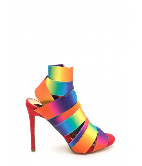 Incaltaminte Femei CheapChic With The Bands Rainbow Cut-out Heels Rainbow