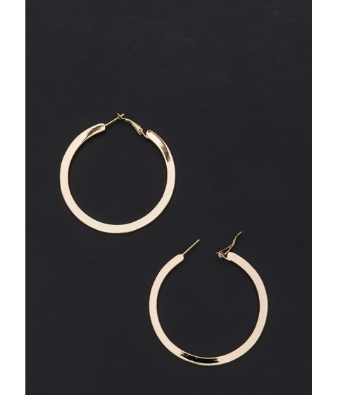Bijuterii Femei CheapChic Flat Out Chic Shiny Hoop Earrings Gold